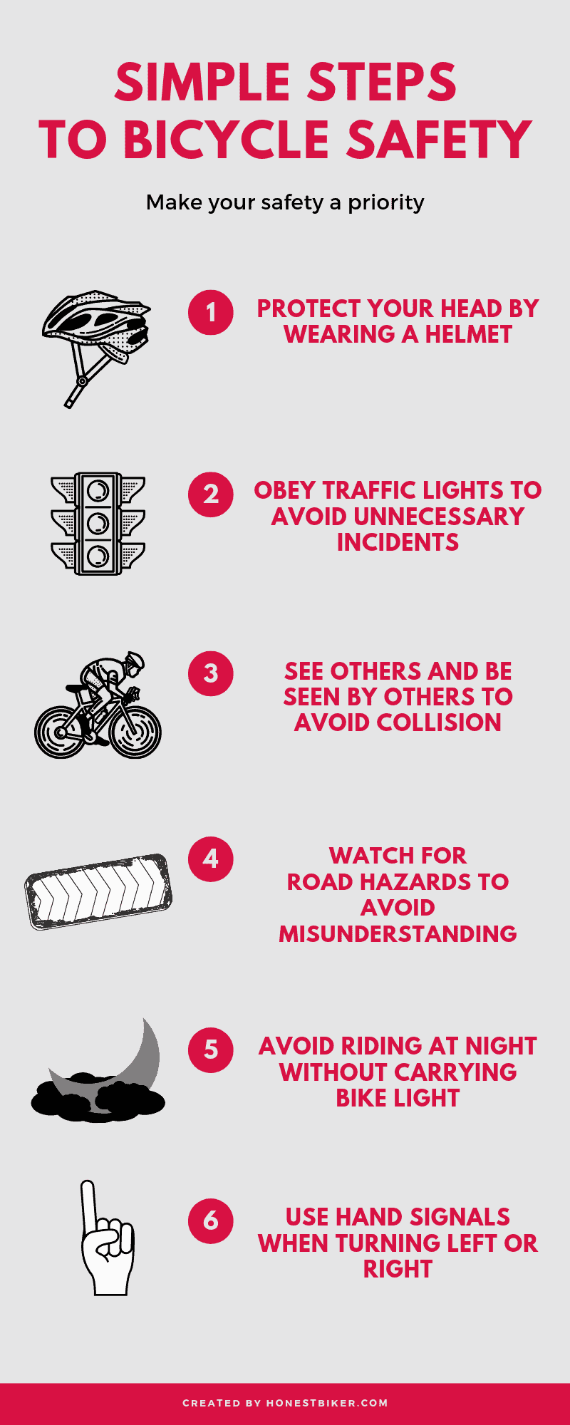 Top Mountain Bikes >> Simple Bike Safety Tips On Infographic - [Beginner Guides]